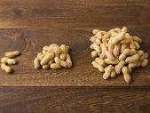 Gráfico de amendoim — Foto Stock