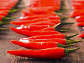 Asian red chili padi — Stock Photo