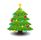Christmas tree — Vetorial Stock