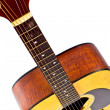 Stock Photo: Details fingerboard 6 strings acoustic guitar classical
