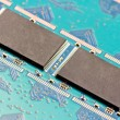 Stock Photo: 8 gigabytes memory modules SMD Single State Drives - SSD
