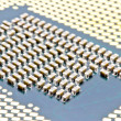 SMD components on bottom of the PC processor - Stock Photo