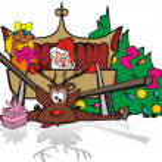Christmas disaster — Stock Vector