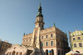 Renaissance town hall in zamosc — Stock Photo