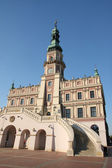 Town hall in zamosc - great square — Stock Photo