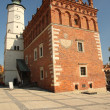 Town hall in sandomierz — Stock Photo