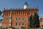 Sandomierz old town - town hall — Stock Photo