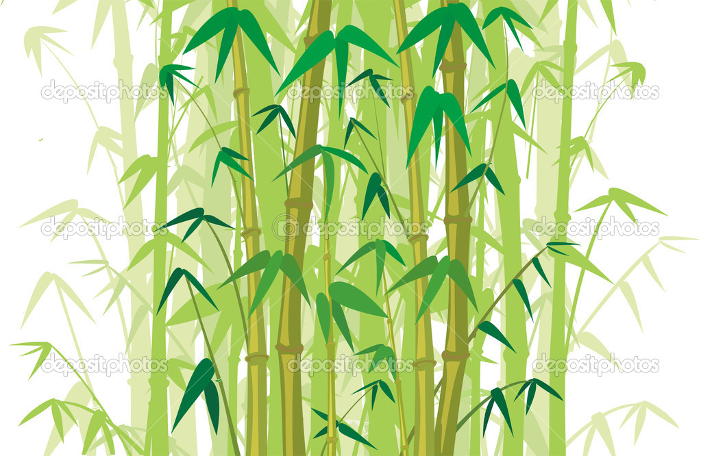 Cartoon Jungle Grass Bamboo stick, true grass