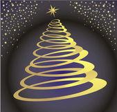 Kerstboom in de ruimte — Stockvector