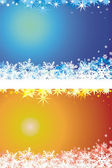 Winter background - snowflake and stars — Stock Vector