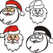 Stock Vector: Santclaus - face