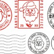 Postmarks - merry christmas — Stock Vector #7614392