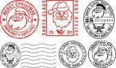邮戳-圣诞快乐 — 图库矢量图片