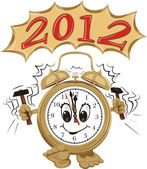 Alarm ring and new year 2012 — Stock Vector