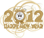 2012 - happy new year — Stock Vector