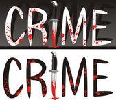 Crime scene - crime of passion — Stock Vector