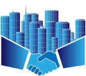 Urban agreement — Stock Vector