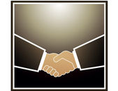 Handshake partners — Stock Vector
