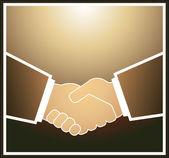 Businessman handshake — Stock Vector