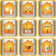 Set icon with tools for house - Stock Vector