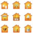 House and tools — Stock Vector