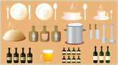 Set of object for kitchen — Stock Vector