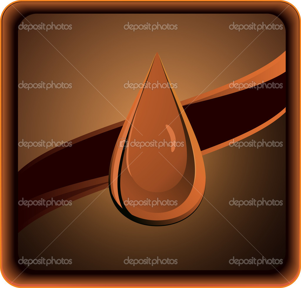 Silhouette of petroleum drop on dark background — Stock Vector #7605549