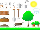 Set of tools for house and garden — Stock Vector