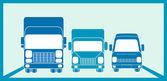 Sign cargo freight — Stock Vector