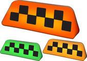 Set of taxi symbol — Stock Vector