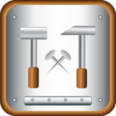 Repair symbol with hammers and nails — Stock Vector