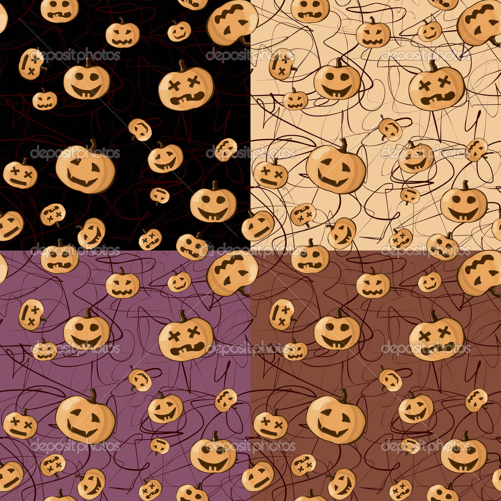 Seamless background, Halloween — Stock Vector #7149971