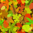 Royalty-Free Stock Vektorfiler: Autumn yellow leaf seamless pattern