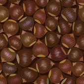 Коричневые орехи бесшовный фон — Cтоковый вектор