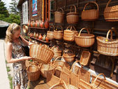 Poland. Sale of craft products in Kazimezhe Submultiple. — Stock Photo