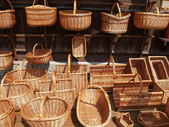Poland. Sale of wattled baskets in Kazimezhe Submultiple — Stock Photo