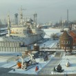 Exposition in territory of a museum of the World ocean in Kaliningrad, Russ - Stock Photo