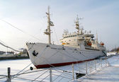 "Kaliningrad. The scientific ship ""Cosmonaut Victor Patsaev"" — Stock Photo"