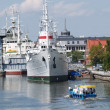 "Kaliningrad. Research vessel ""Hero"" at a mooring — Stock Photo"