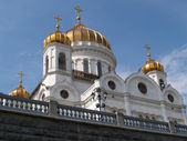 Moscow. A temple of the Christ of the Savior, the bottom view — Stok fotoğraf