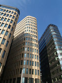 Moscow. Three high-rise buildings against the sky — Stock Photo
