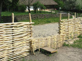 Remanhole in village of Ukraine — Stock Photo