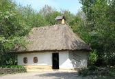 Old mud hut in village of Ukraine — Stock Photo
