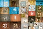 Old numbers — Stock Photo