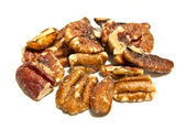 Group of pecan isolated — Stock Photo