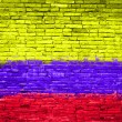 Colombia flag painted on wall — Stock Photo