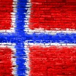 Norway flag painted on wall — Stock Photo