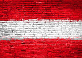 Austria flag painted on wall — Stock Photo