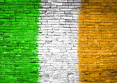 Ireland flag painted on wall — Stock Photo