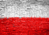 Poland flag painted on wall — Stock Photo
